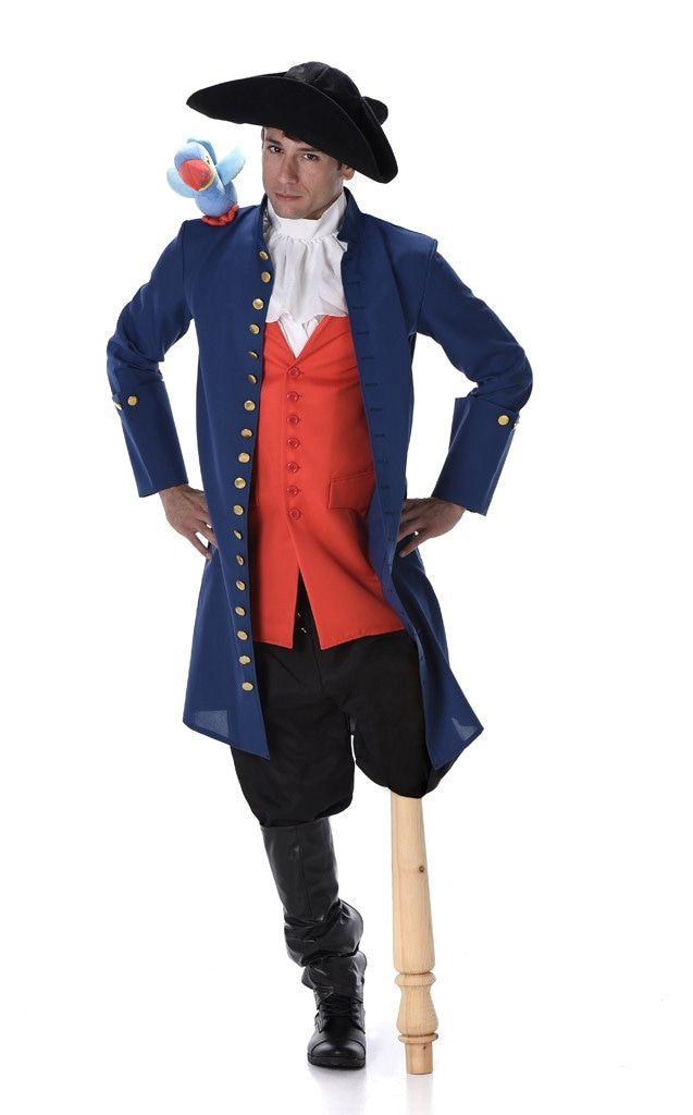 Long John Schateiland Piraat Man Kostuum