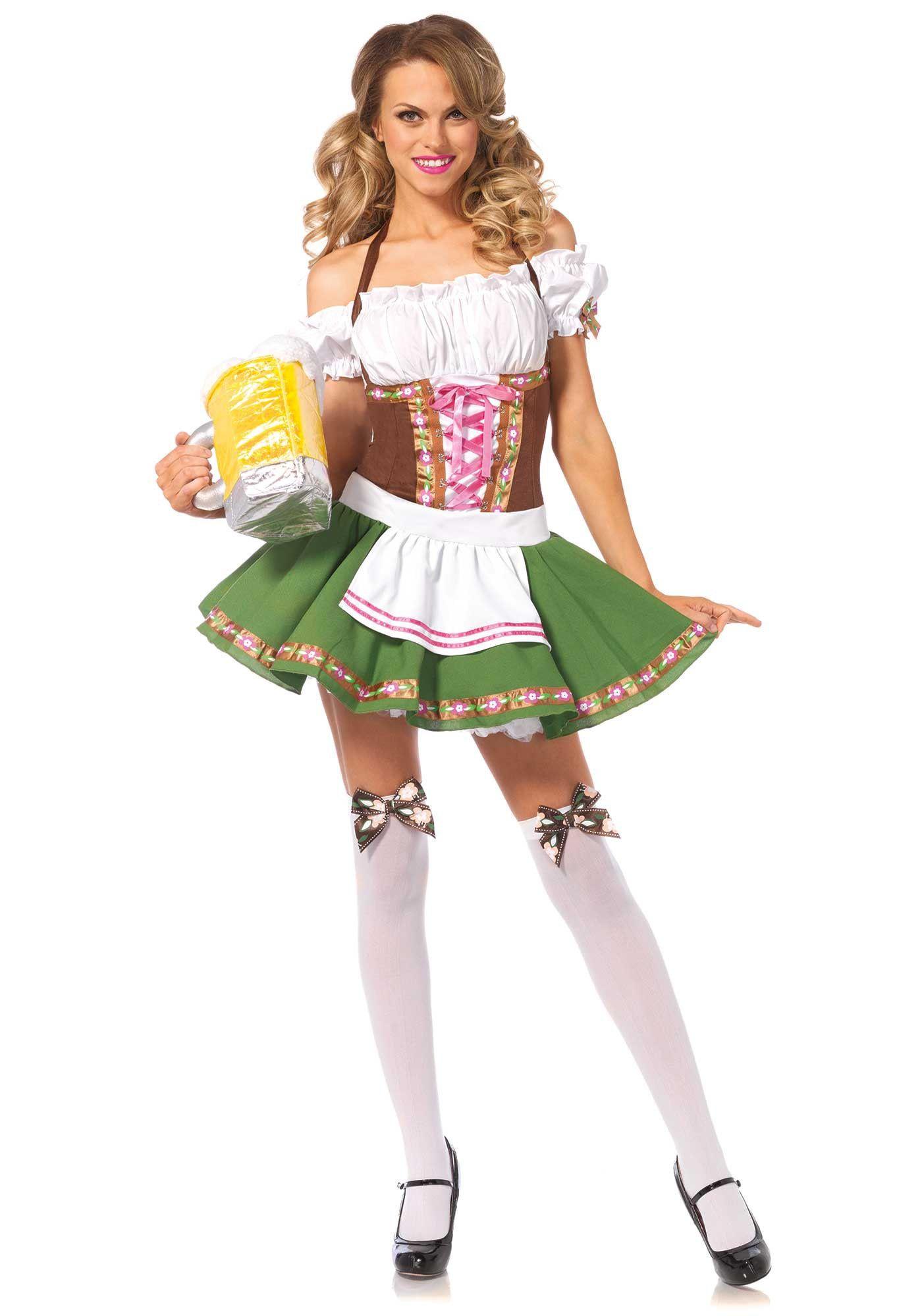 Sexy Duits Biermeisje Dirndl Met Spannende Kousen Vrouw Kostuum