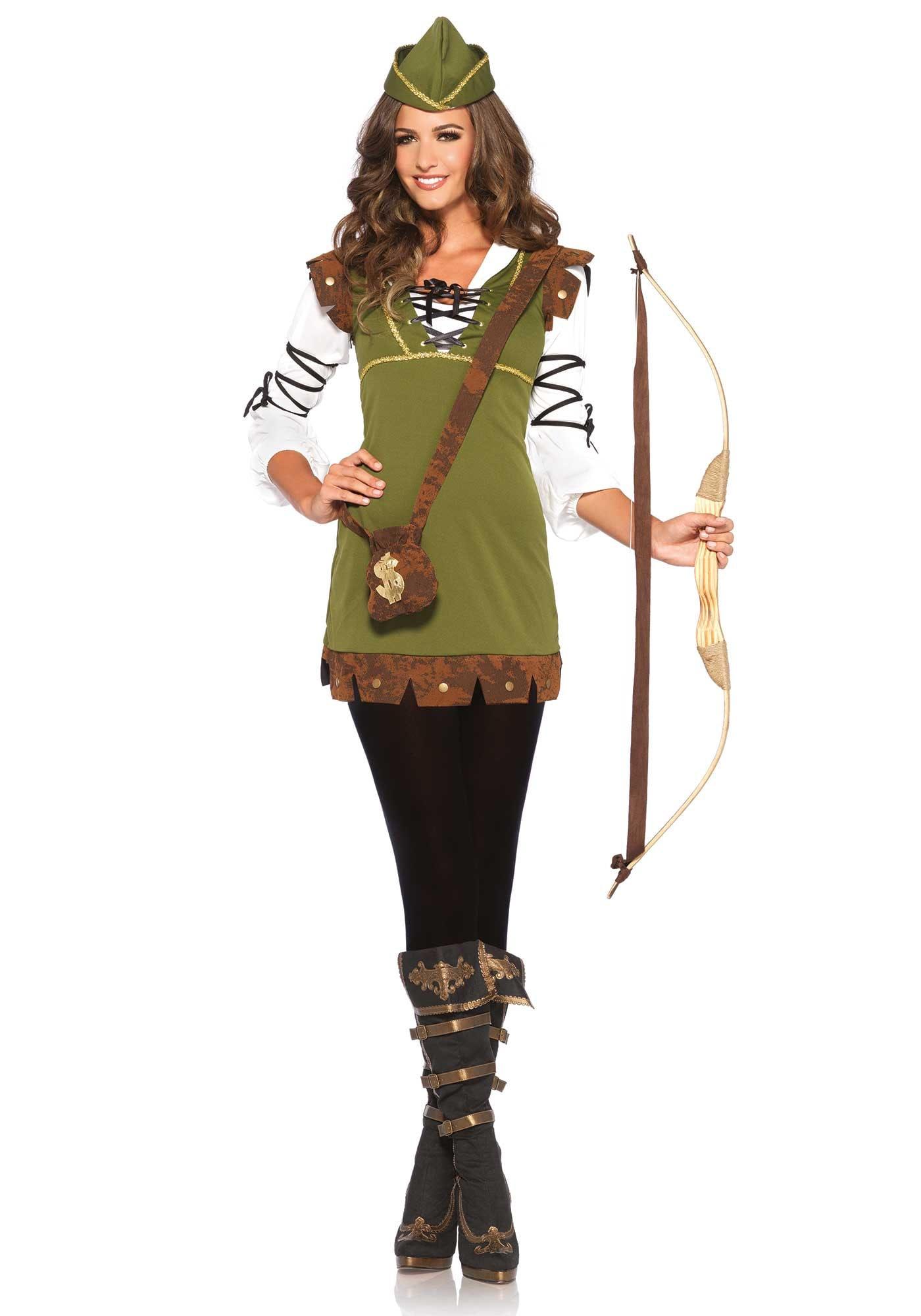 Vrouwelijke Robin Hood Kostuum
