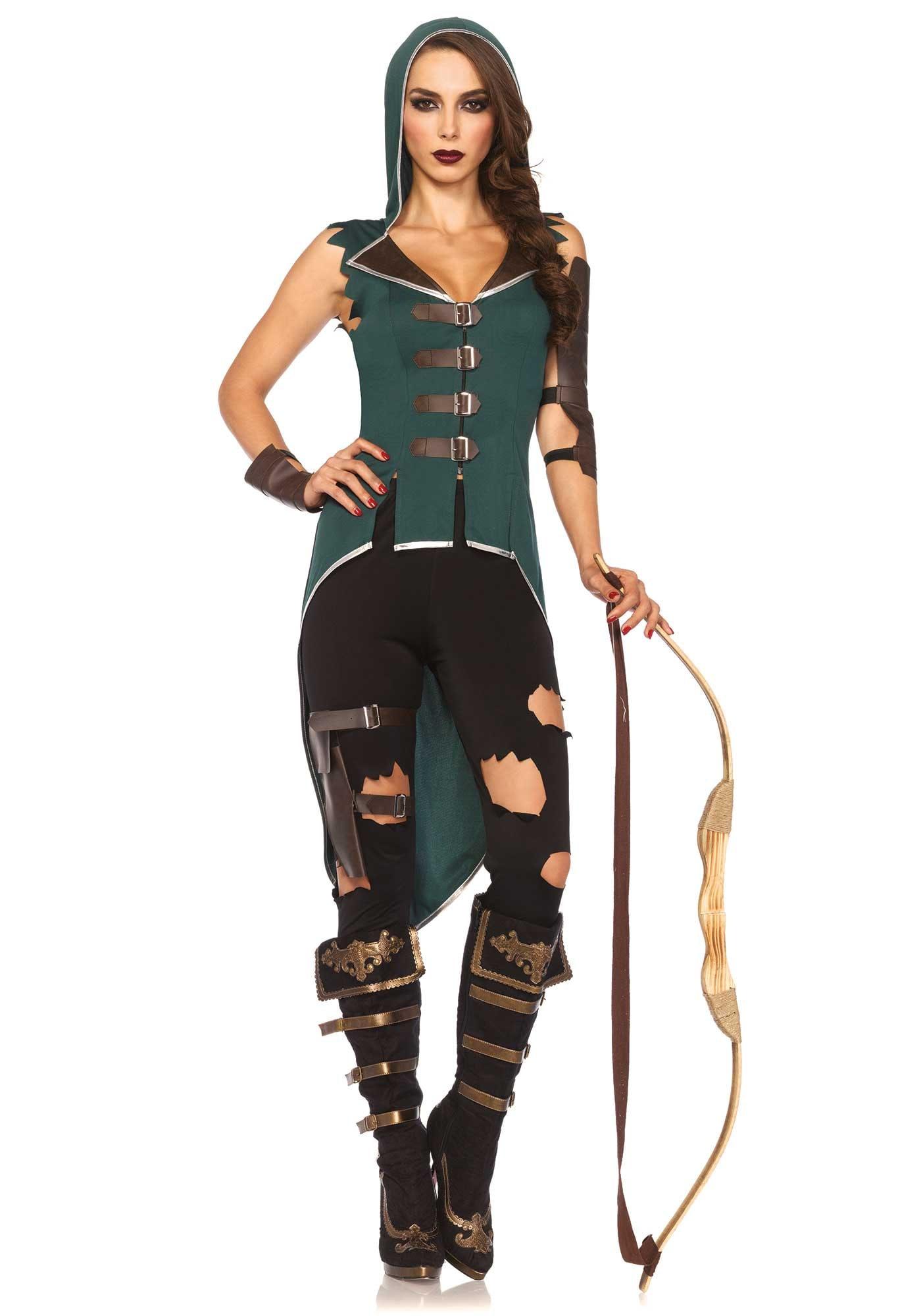 Robin Hood Dame Strak En Sexy Vrouw Kostuum