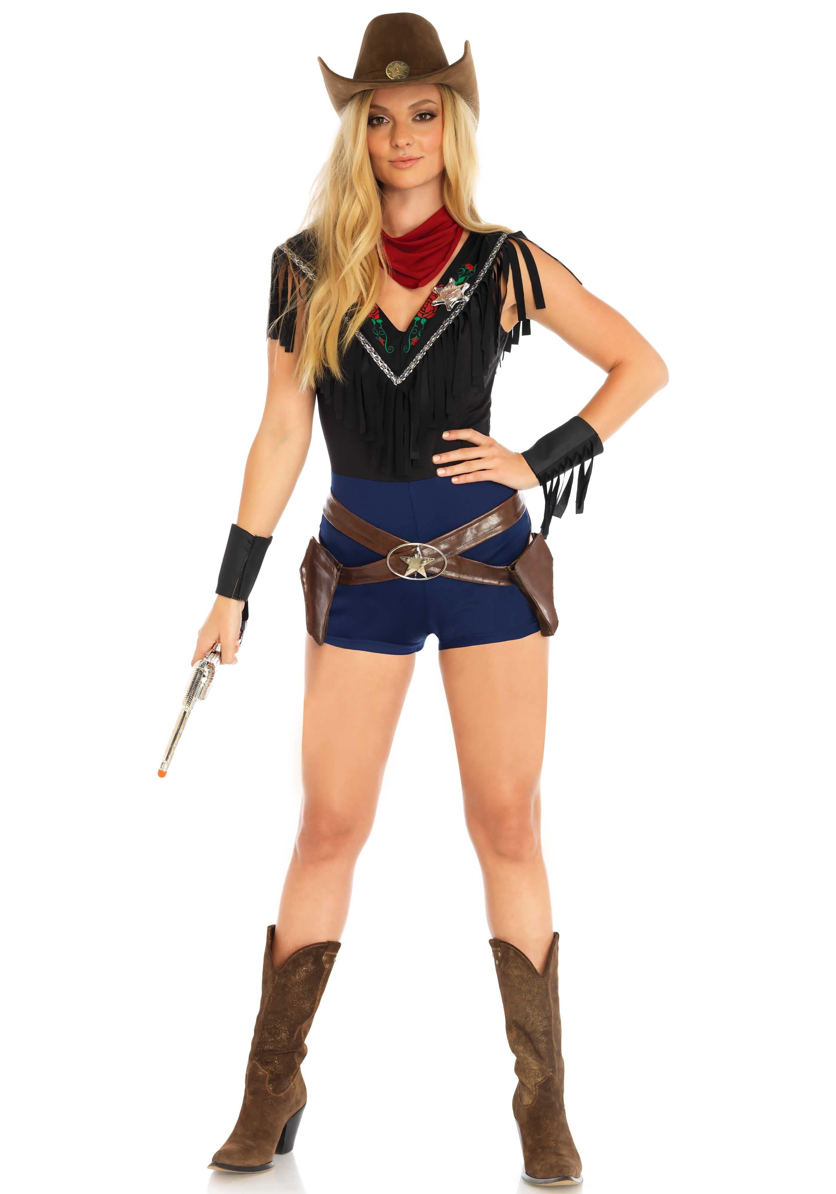 Het Westen Is Wild Sheriff Vrouw Kostuum