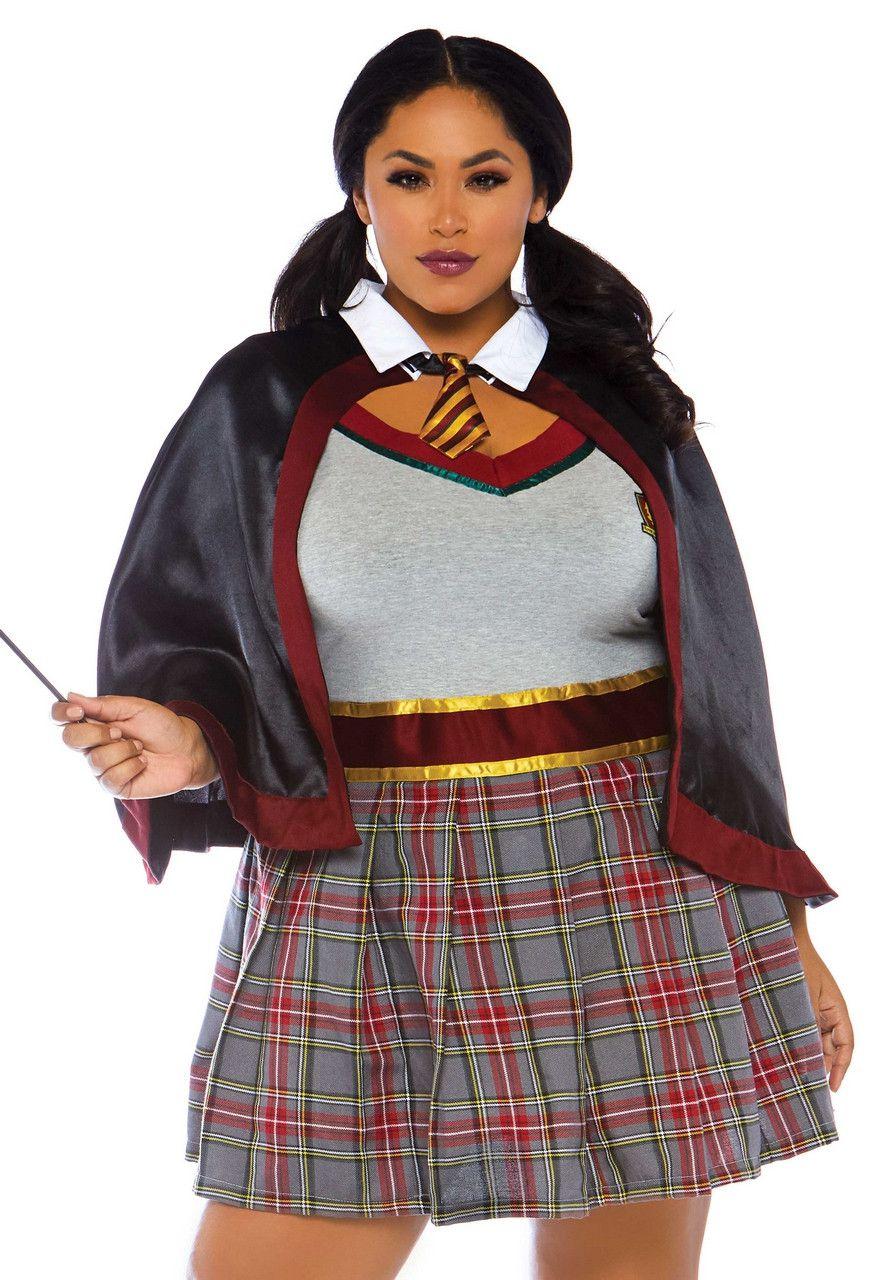 Les Verstorend Schooluniform Plus Size Vrouw Kostuum