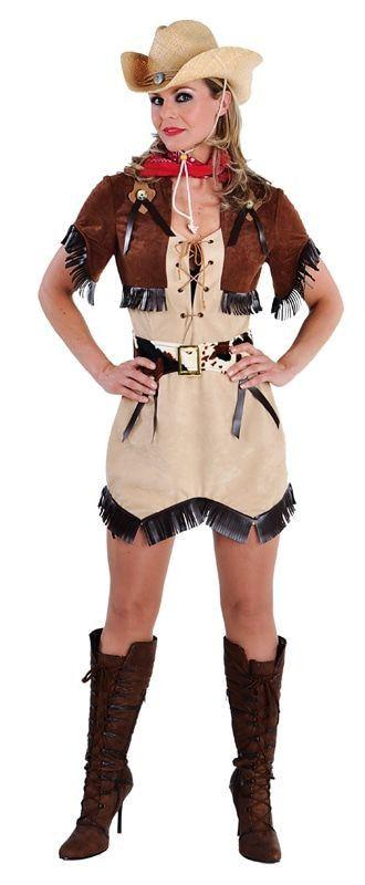 Texas Cowgirl Rodeo Kampioen Vrouw Kostuum