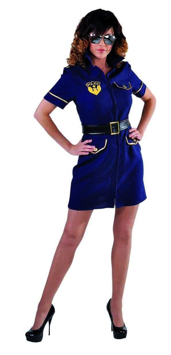 Misdaad Is Zo Gemeen Politie Agente Vrouw Kostuum