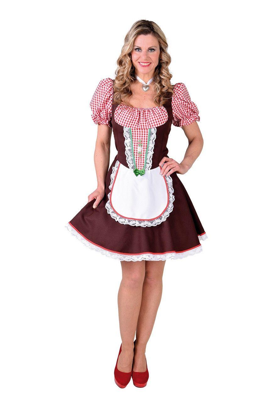 Angela Almhof Bierfeest Dirndl Vrouw Kostuum