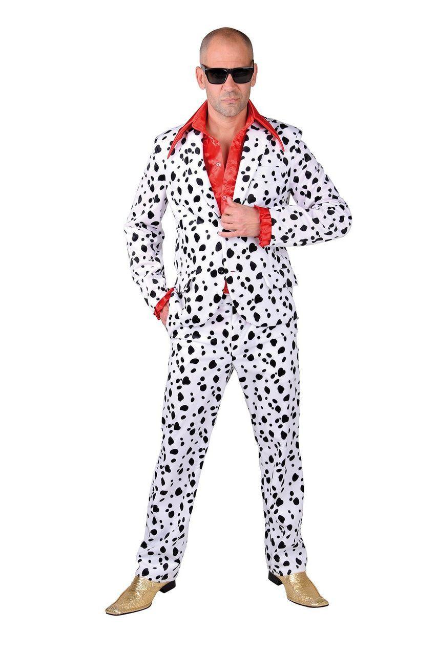Rijst Met Krenten Hond Dalmatier Man Kostuum