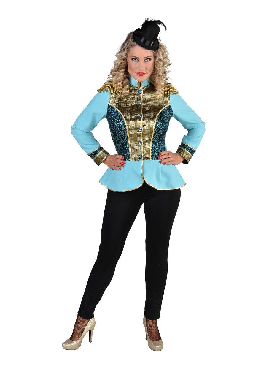 Parmantige Uniform Jas Turquoise Vrouw