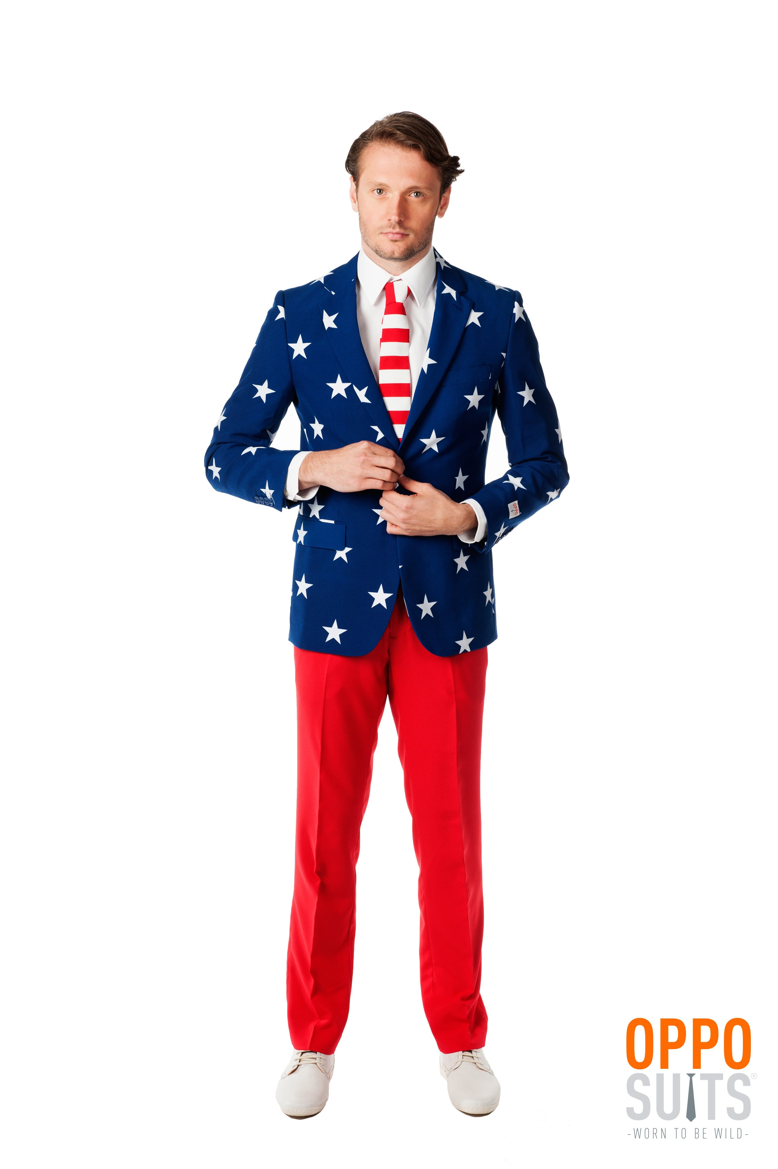 American Stars And Stripes Opposuit Kostuum Man