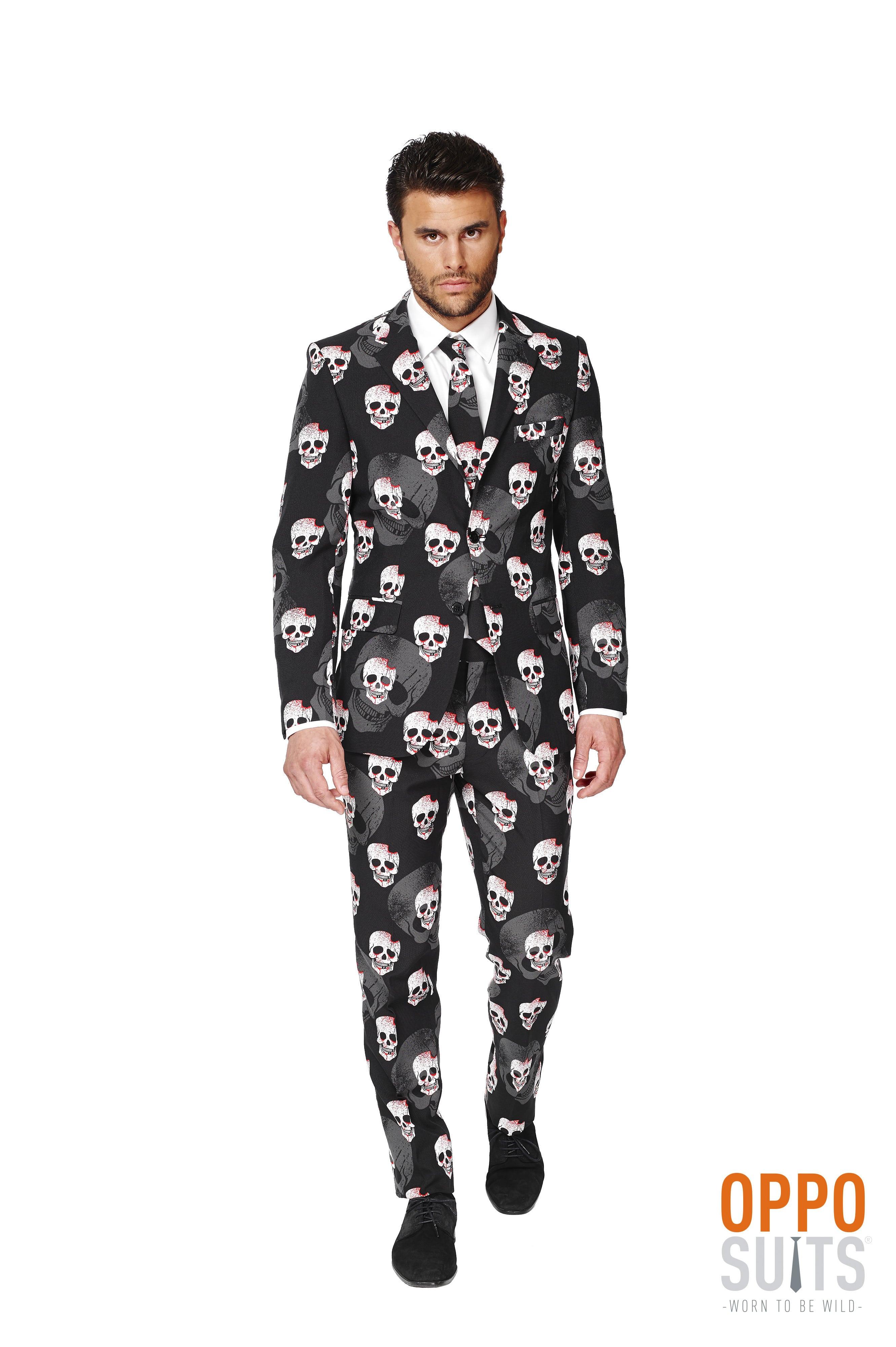 Heavy Halloween Skulleton Opposuit Kostuum Man