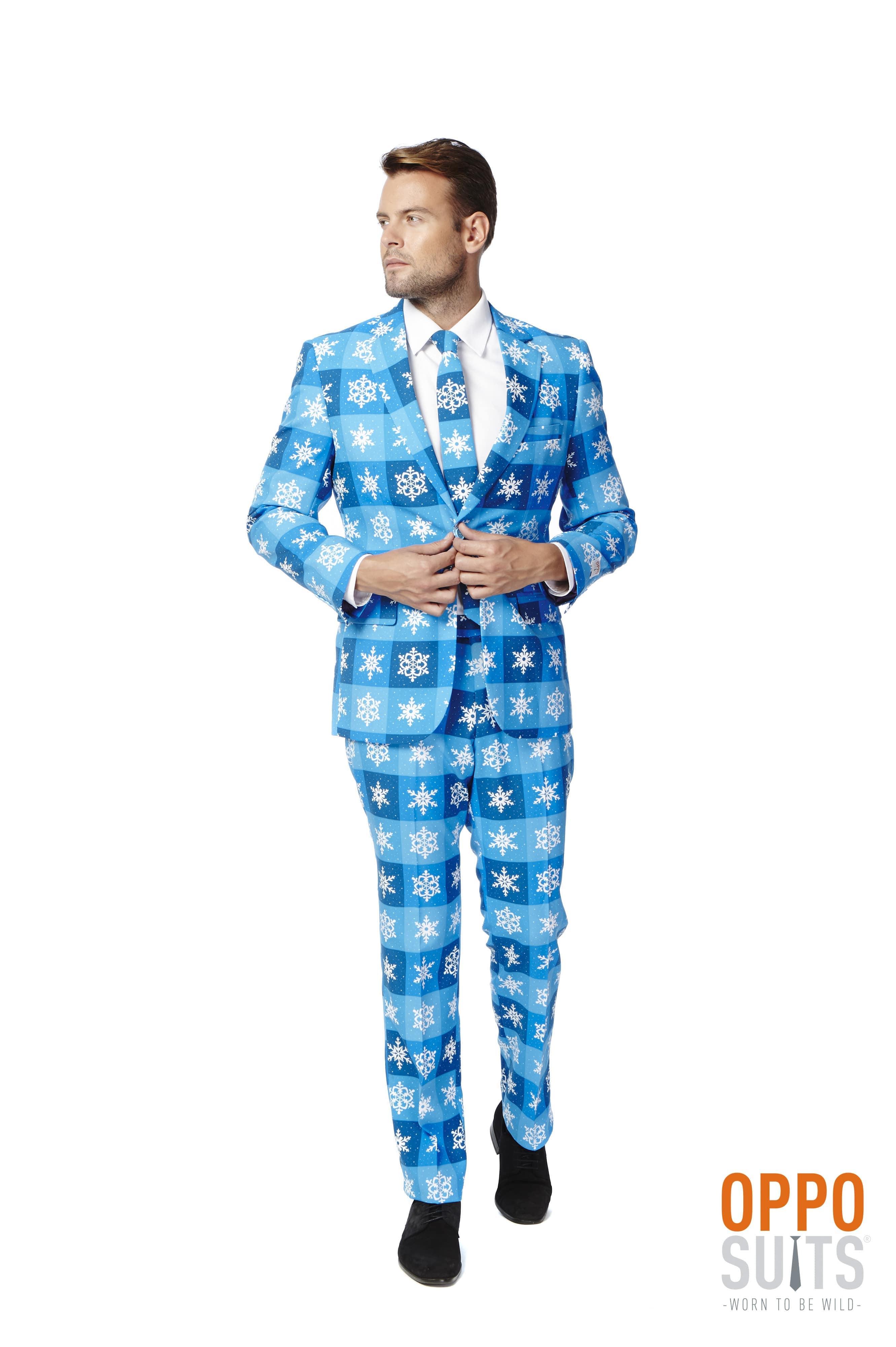 Winterse Snowflake Opposuit Kostuum Man