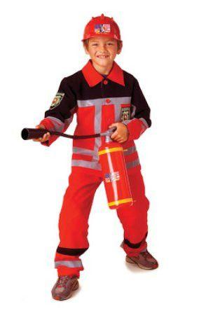 Rode Brandweerman Jongen Kostuum