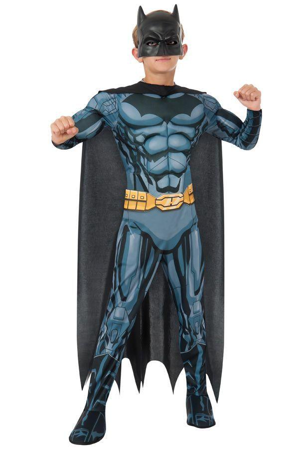 Batman Met Getekende Superspieren Jongen Kostuum