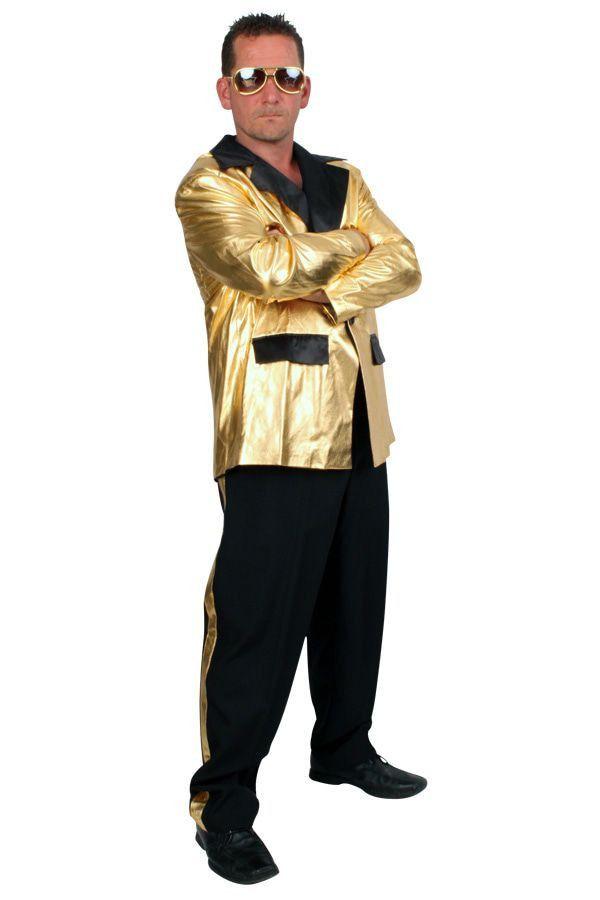 Disco Fever Smoking 2delig Goud Man Kostuum