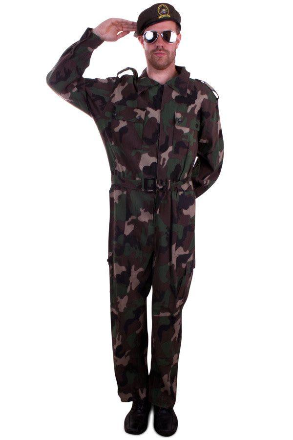 Overall Camouflage Drill Sergeant Man Kostuum
