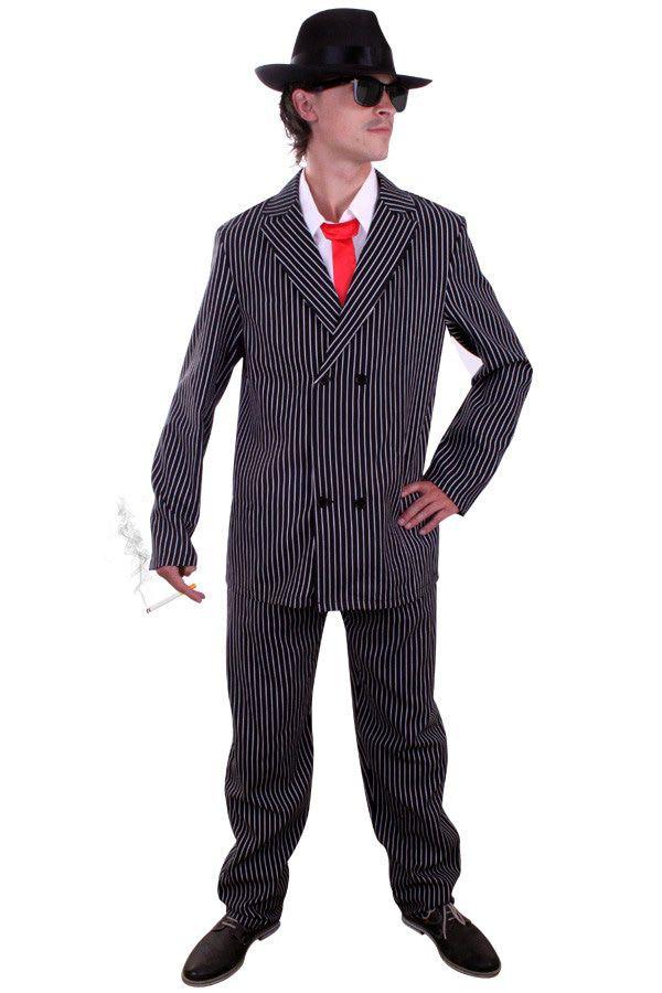 Chicago Keurige Gangster Man Kostuum