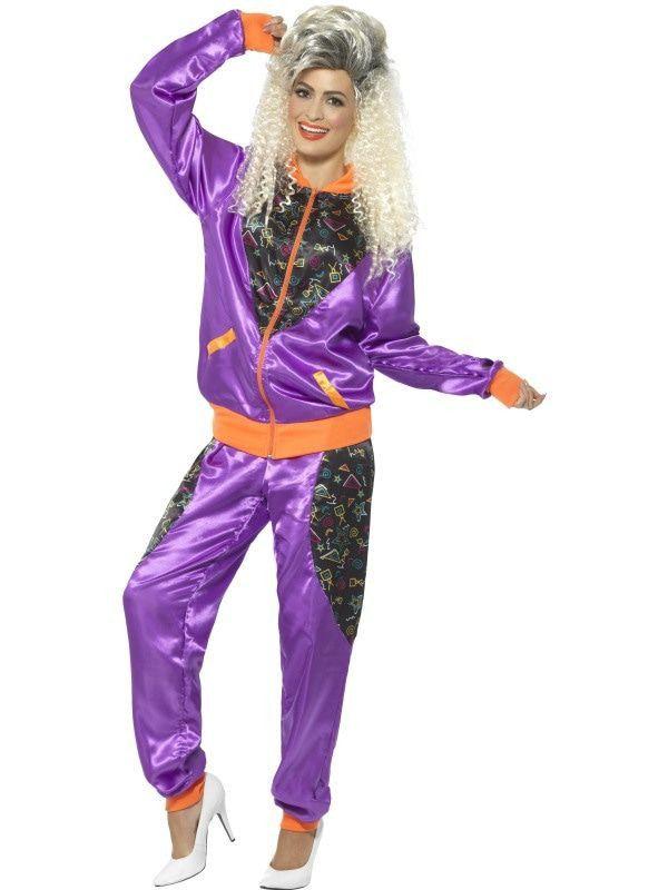 Vet Fout Jaren 80 Trainingspak Vrouw Kostuum