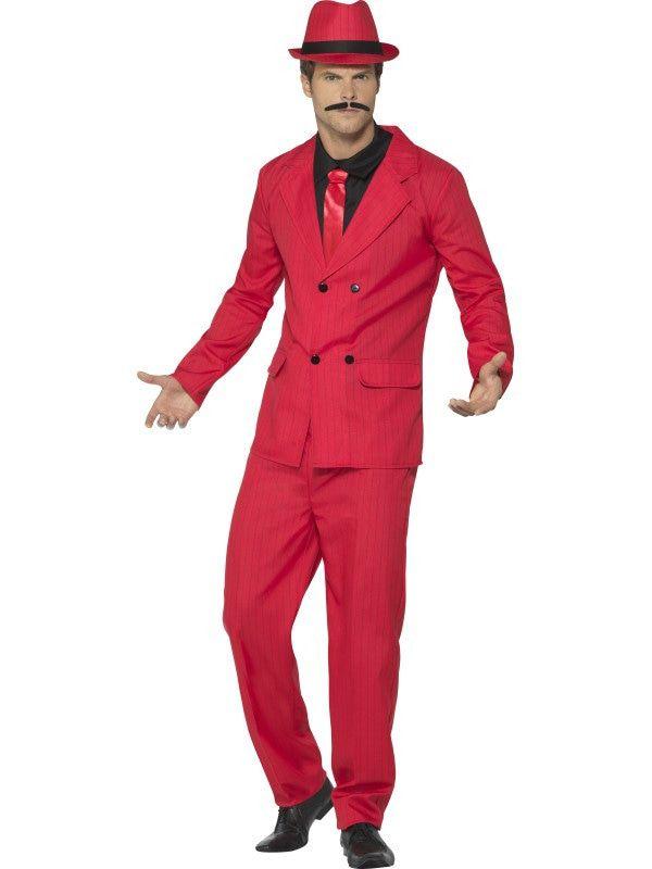Rode Italiaanse Gangster Chicago Man Kostuum