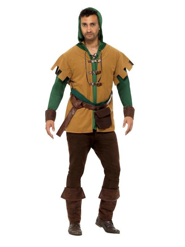 Middeleeuwse Woudloper Robin Man Kostuum