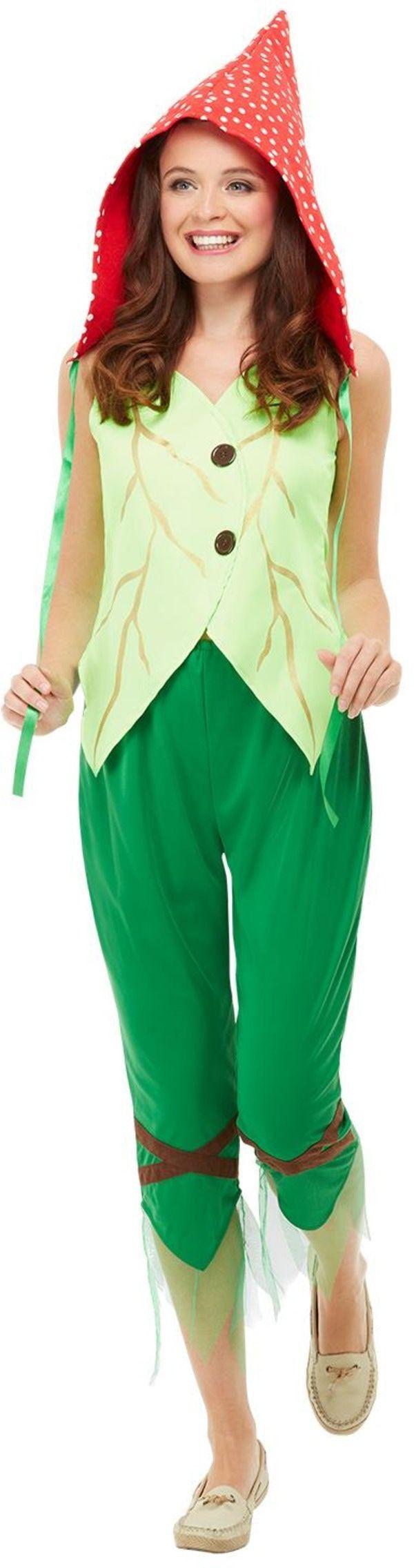 Vliegenzwam Paddenstoel Kabouter Vrouw Kostuum
