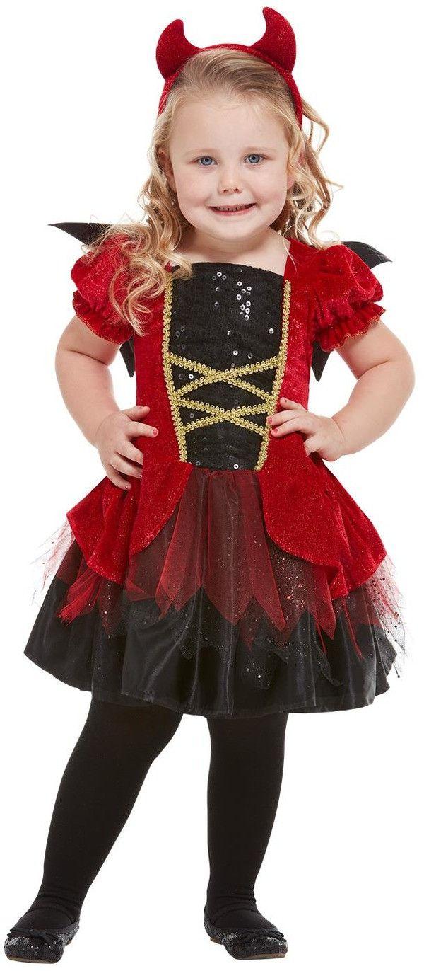 Echt Niet Enge Halloween Duivel Meisje Kostuum