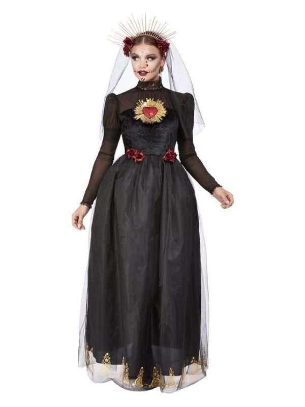 Zwarte Bruid Vrouw Kostuum