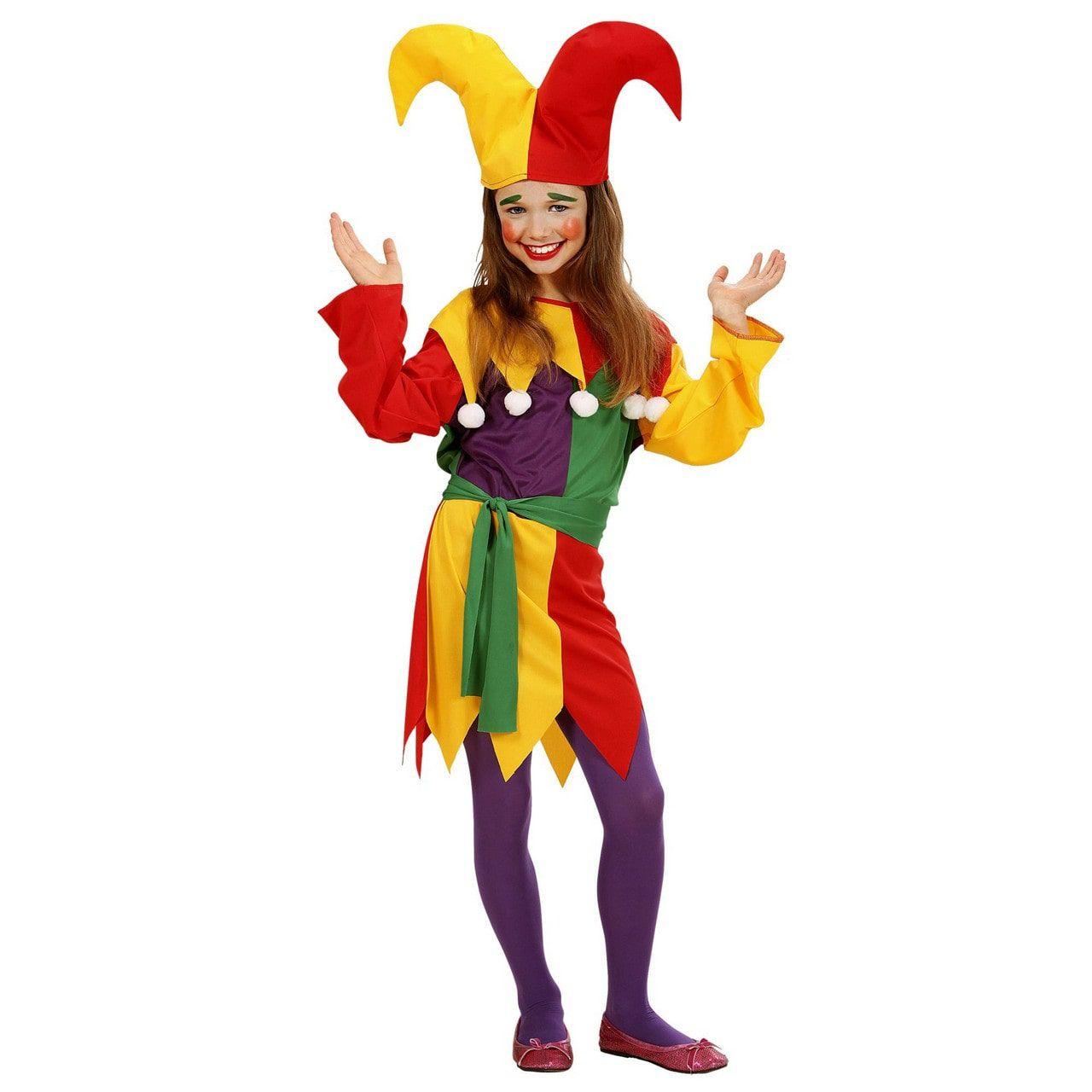Hofnar Jolly Joker Kind Kostuum Meisje