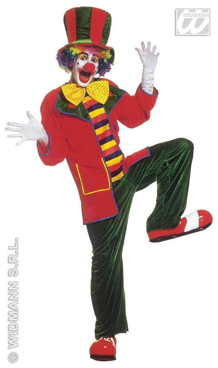Clown, Fluweel Top Hat Kostuum Man