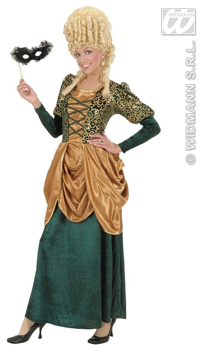 Elegante Markiezin Fluweel Groen Kostuum Vrouw