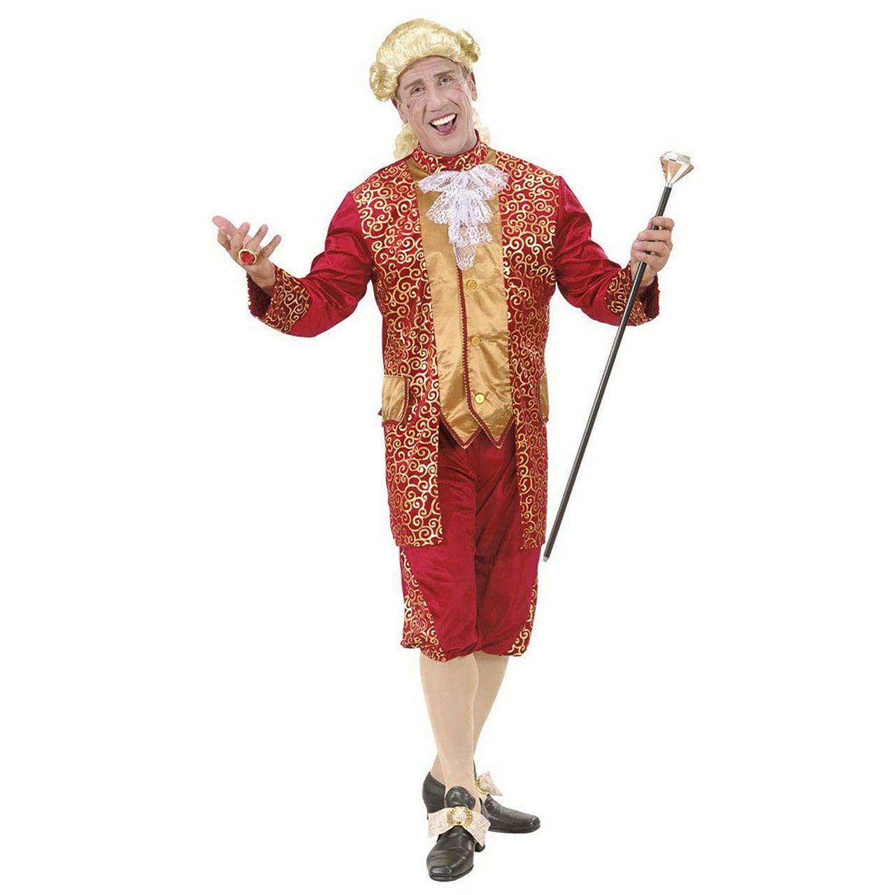 Markies Fluweel Bordeaux Rood Beethoven Kostuum Man