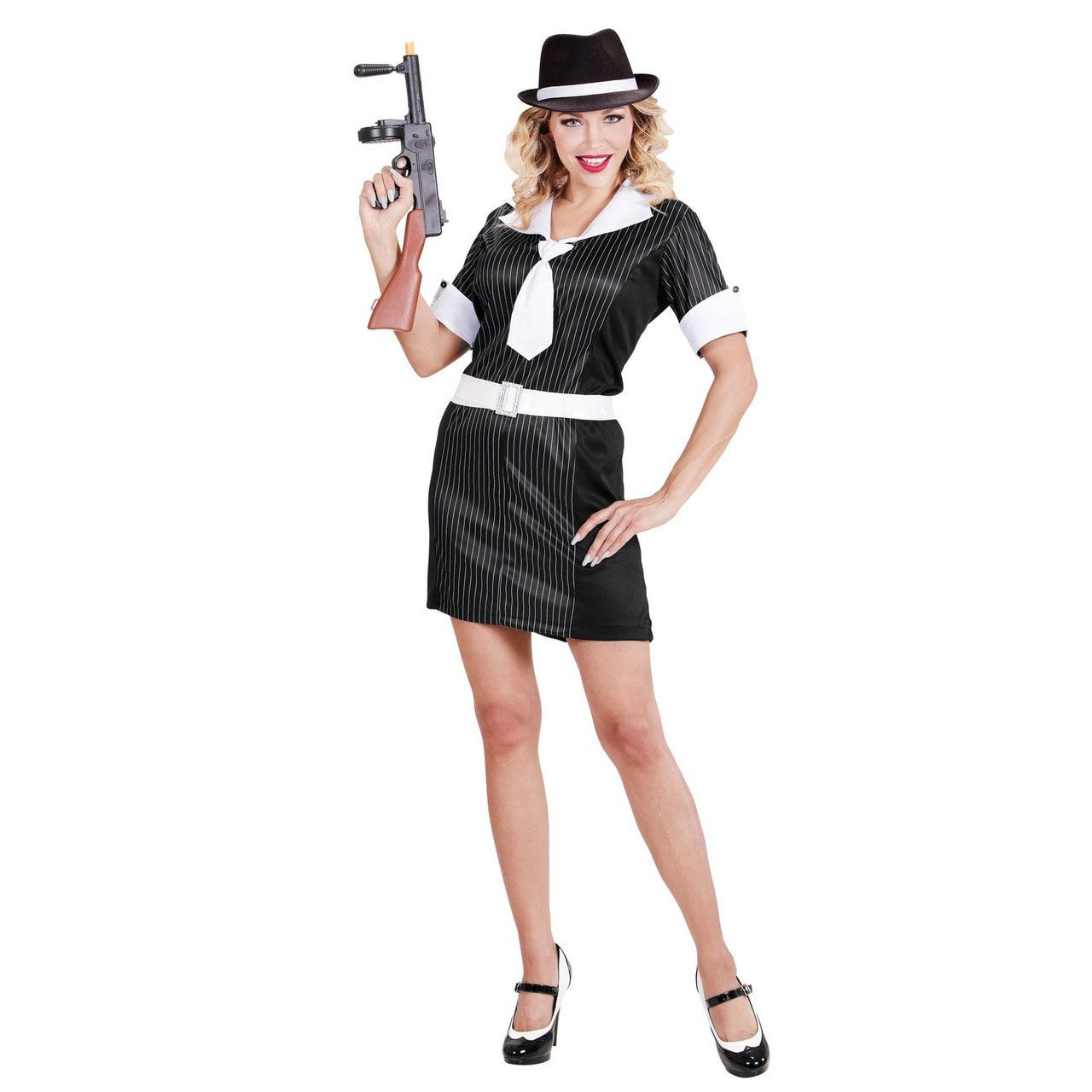 Down-Town Gangster Vrouw Kostuum