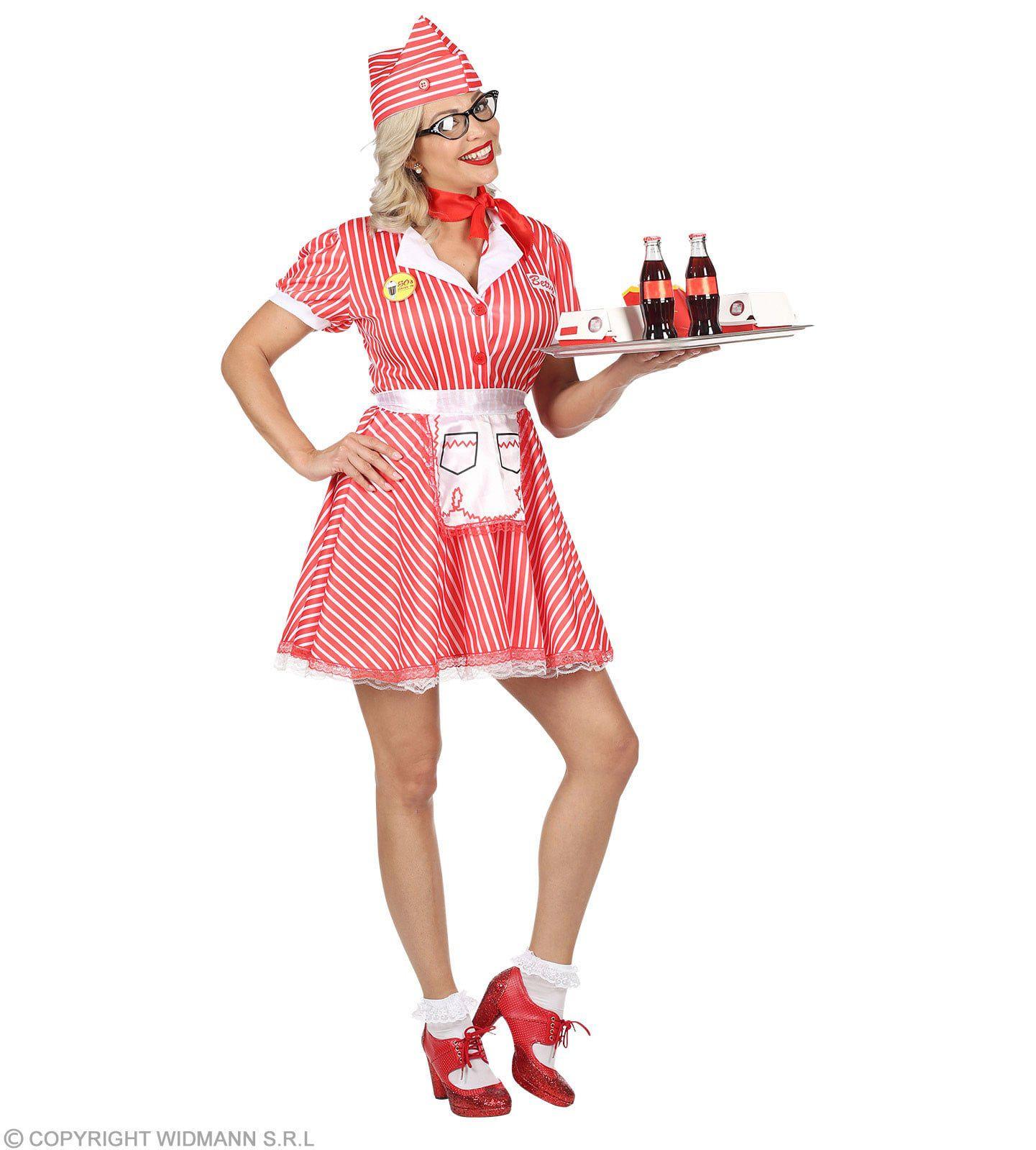 Serveester Amerikaanse Diner Vrouw Kostuum
