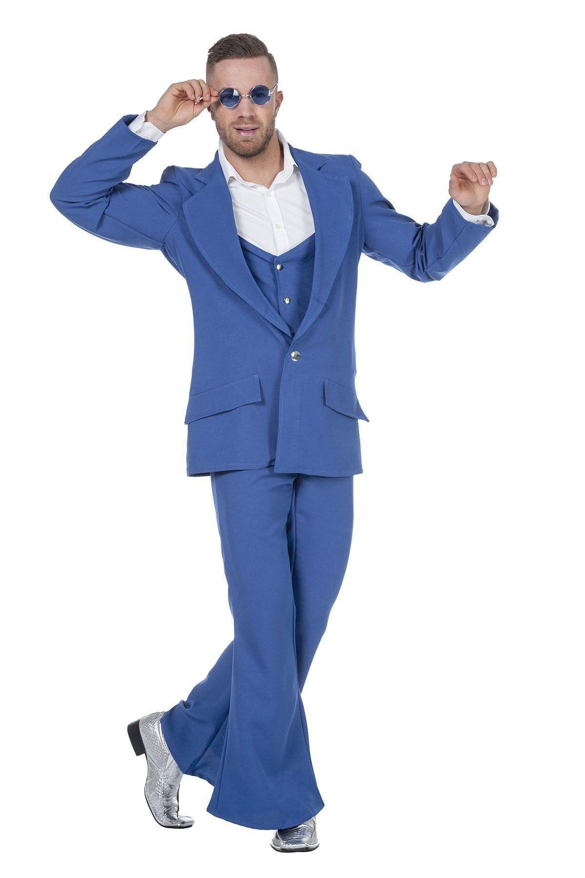 Every Night Fever Blauw Man Kostuum