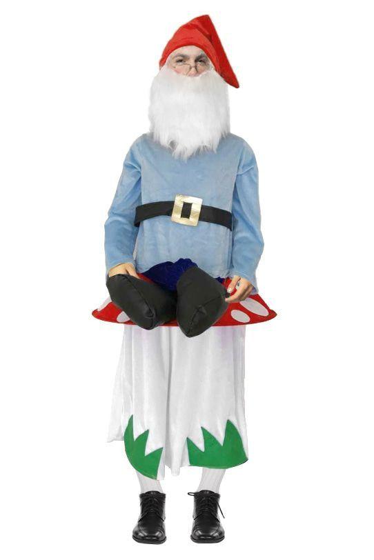 Kabouter Op Paddenstoel Man Kostuum