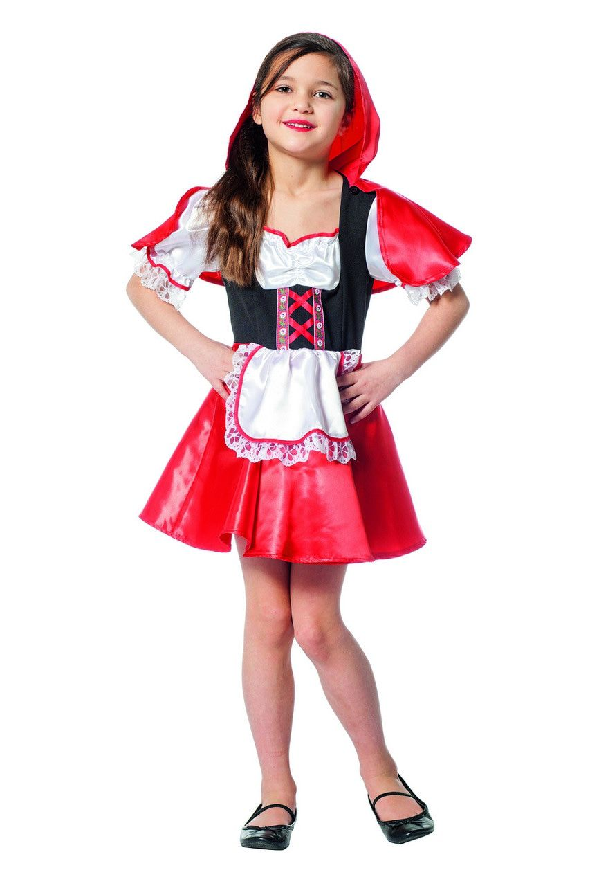 Grootmoeders Schatje Roodkapje Meisje Kostuum
