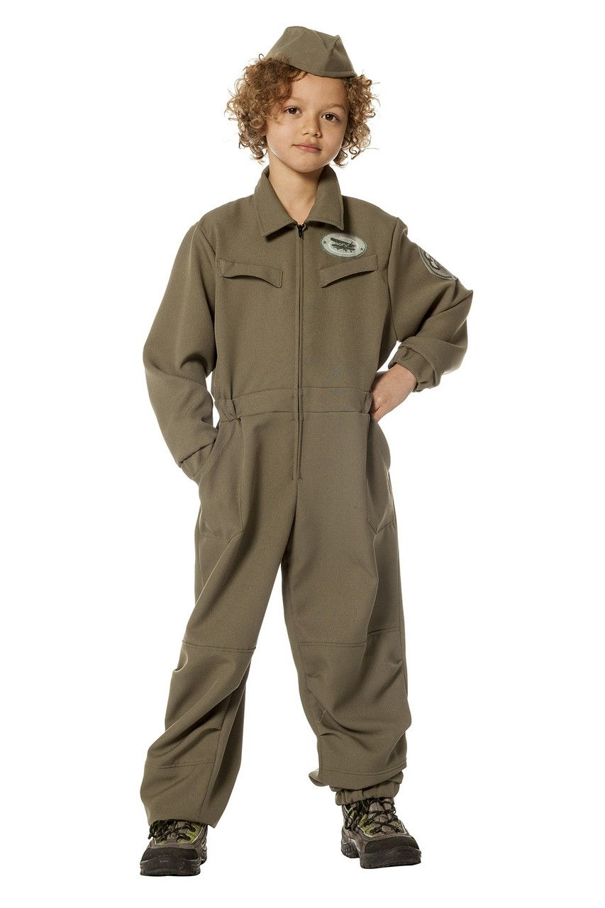 Piloot Vliegtuig Monteur Jongen Kostuum