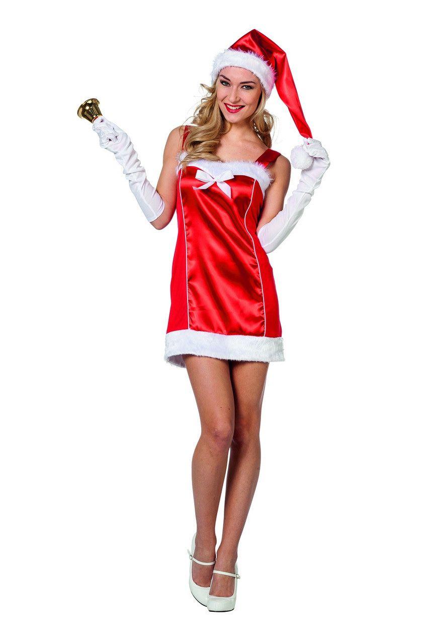 Ondeugend Glimmend Kerstvrouw Kostuum