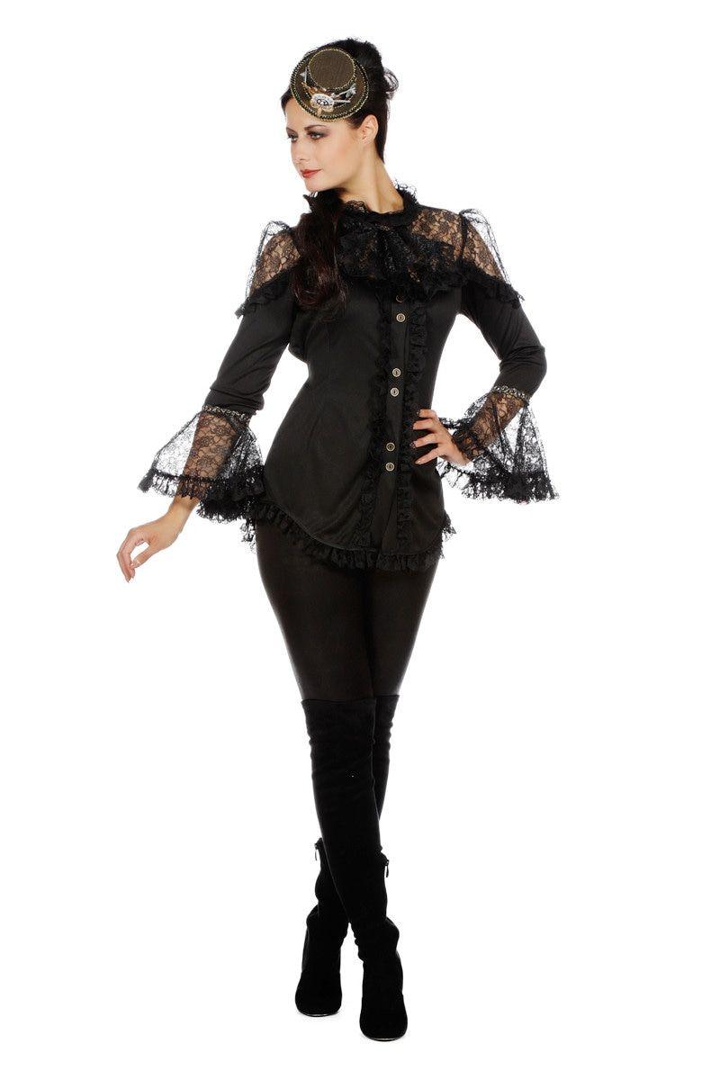 Elegante Kanten Piraten Blouse Vrouw