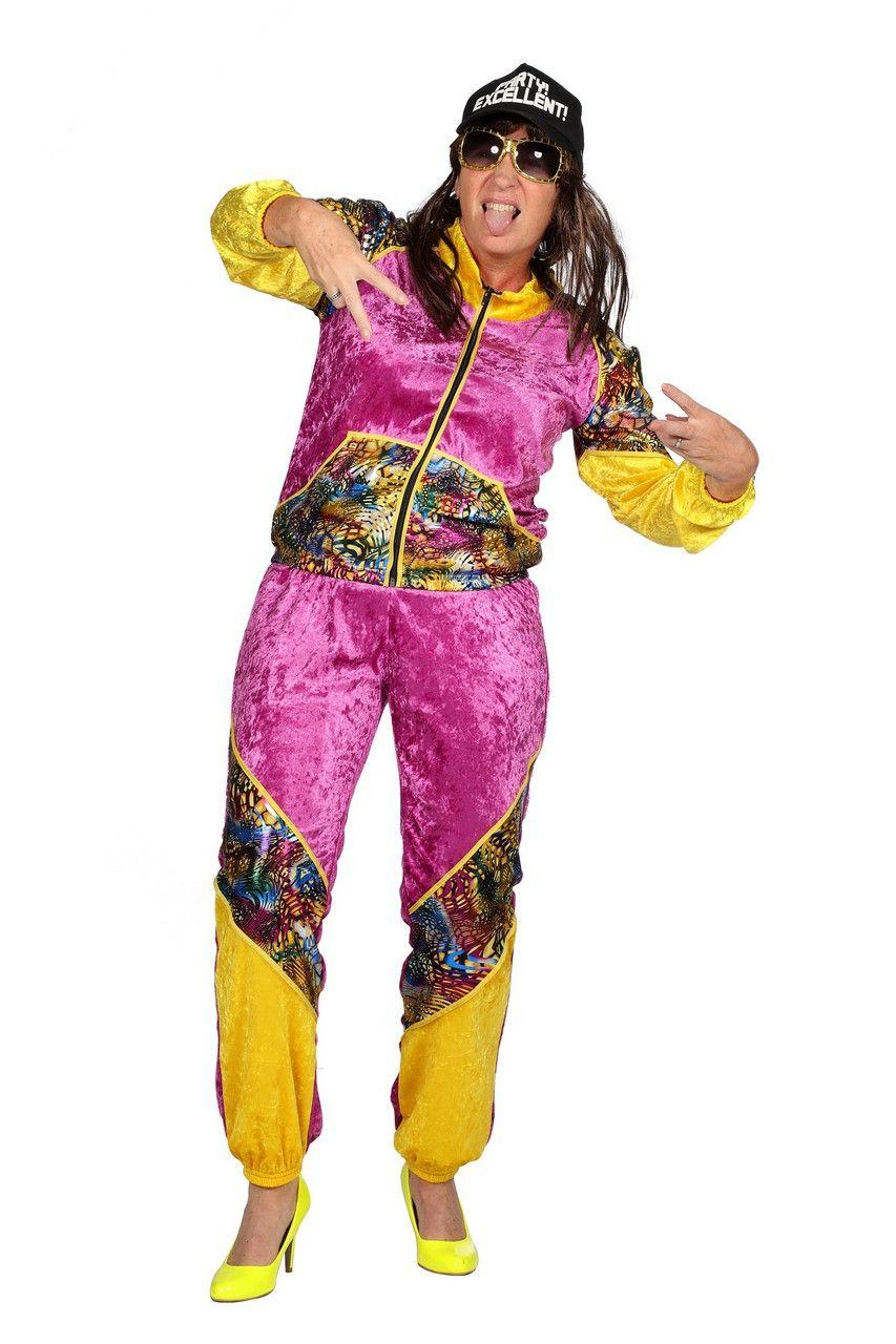 Mega Vet Trainingspak Bling Vrouw Kostuum