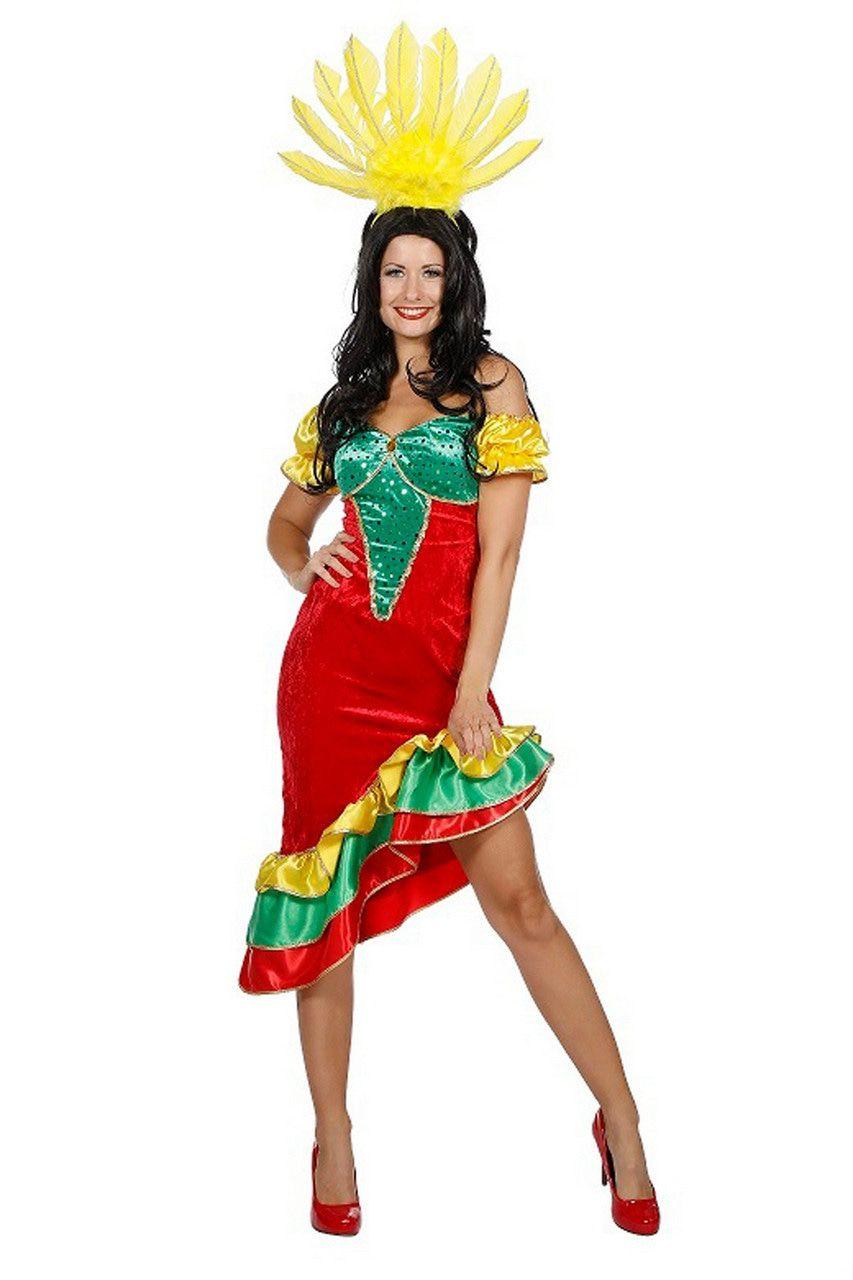 Samba Rio De Janeiro Carnaval Vrouw Kostuum