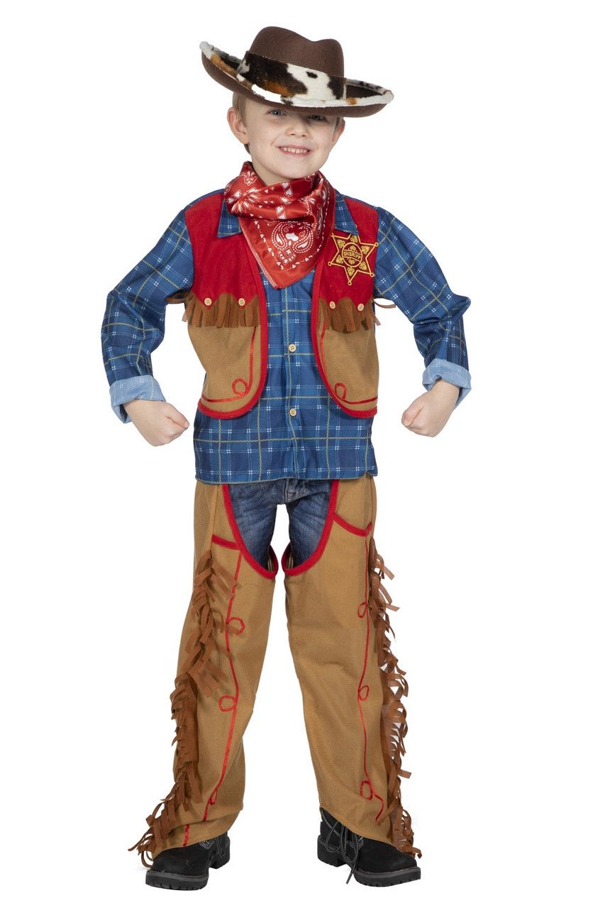 Vast In Het Zadel Cowboy Texas Jackson Kind Kostuum
