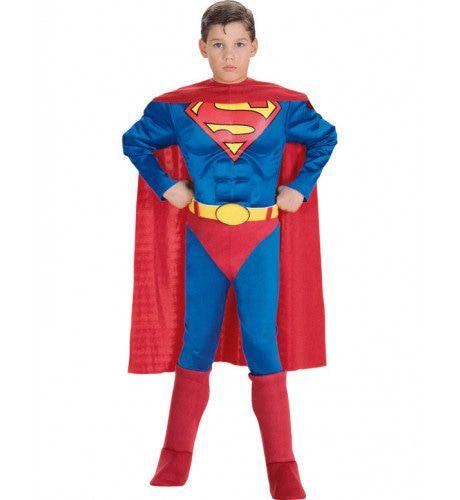 Gespierde Superheld Superman Jongen Kostuum