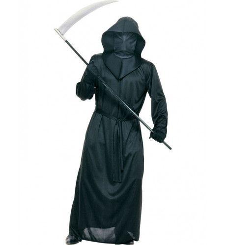 Middeleeuwse Beul Zwarte Dood Man Kostuum