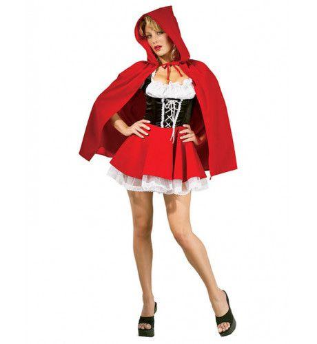 Sexy Roodkapje Vrouw Kostuum