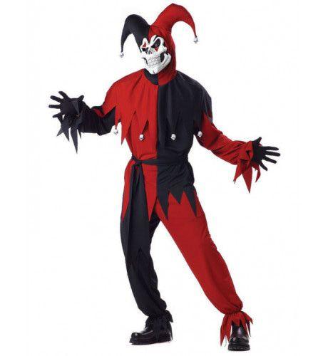Nar Rood-Zwart Man Kostuum