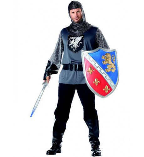 Moedige Ridder Man Kostuum