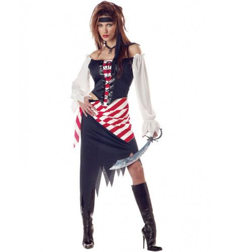 Ruby The Pirate Beauty Piraat Vrouw Kostuum