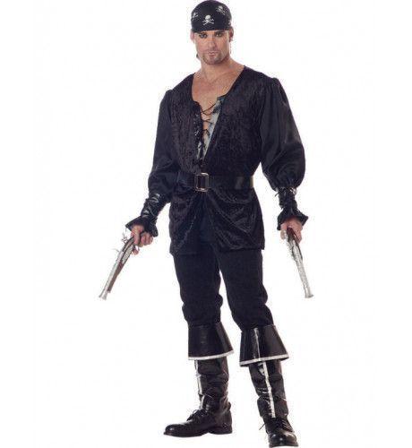 Zwarthart Piraat Man Kostuum