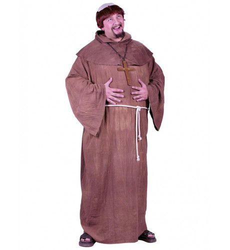 Middeleeuwse Monnik (Grote Maat) Man Kostuum