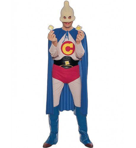 Captain Condom Superheld Man Kostuum
