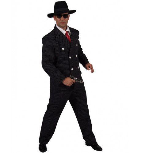 Mannen Gangster Man Kostuum